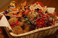 Пряники Винтаж - набор в корзине - елочное украшение,елочные игрушки,расписные пряники