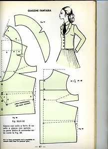 during cutting - cutting method - couture sewing - comm. guarino - 1975