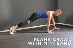 2. Plank Crawl with Mini Band