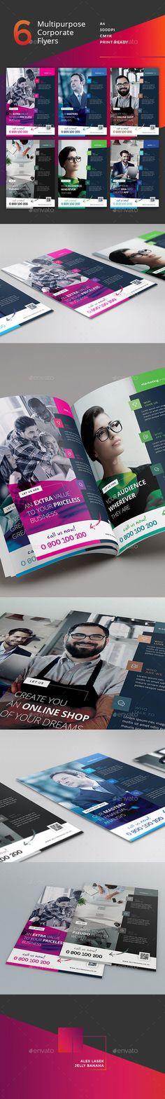 Corporate Flyer - 6 Multipurpose Business Template PSD #design Download: http://graphicriver.net/item/corporate-flyer-6-multipurpose-business-templates-vol-25/14321176?ref=ksioks
