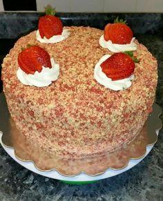Strawberry shortcake ice cream cake