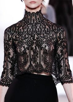 Ulyana Sergeenko haute couture f/w 2013  Vologda lace goes back to the 16th and 17th centuries. Vologda region is known as a breeding ground...
