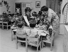 Lunch time at the kindergarten in the town of Blovice, 1983 (photo source: ČTK News Agency, Dessert For Dinner, Lunch Time, Vintage Images, Kindergarten, Meals, Couple Photos, Children, Classic