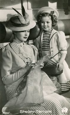 Shirley Temple and June Lang in Wee Willie Winkie, 1937.