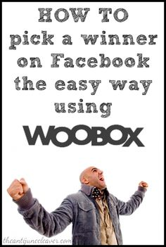How to use Woobox to easily and quickly choose a winner for your Facebook giveaways #socialmedia #blogging #blogtips