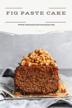 This fig cake is loaded with molasses spices and fig paste it is the perfect soft and tender companion to a crumbly and buttery oat crust. And in addition to bring it all to a perfect harmony are some walnuts in honey syrup. Fig Recipes, Fun Baking Recipes, Best Dessert Recipes, Cake Recipes, Dessert Ideas, Sweets Recipes, Easy No Bake Desserts, Fun Desserts, Delicious Desserts
