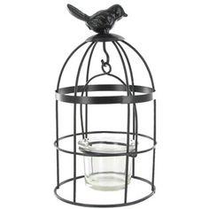 Black Metal Bird Cage with Votive Holder Shop Hobby Lobby