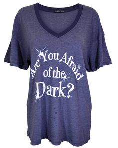 Wildfox Couture UK Wildfox Couture Are You Afraid of the Dark tee in Black - as seen on Alessandra Ambrosio