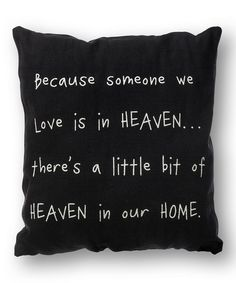 'Heaven in Our Home' Pillow
