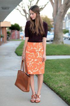 sweater + pencil skirt