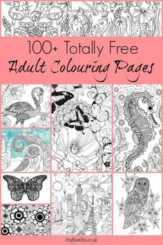 Download 100+ free coloring pages for adults!                              … #adultcrafts