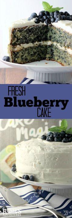 Fresh Blueberry Cake | Renee's Kitchen Adventures - fresh blueberries in a moist…
