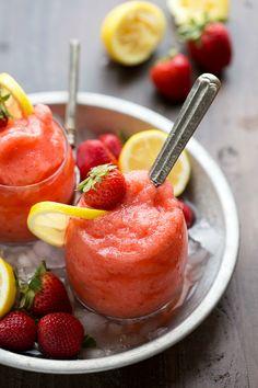Lemon-Strawberry Slushies
