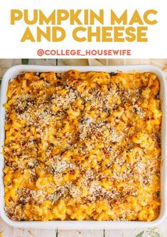 Pumpkin Mac and Cheese topped with Panko pecan breadcrumb topping. This easy mac and cheese recipe is made with canned pumpkin, cheddar cheese and topped with an earthy plank breadcrumb pecan topping for a bit of crunch. Be sure to bookmark this Mac and cheese recipe for Thanksgiving and Friendsgiving celebrations Pumpkin Mac And Cheese, Easy Mac And Cheese, Canned Pumpkin, Cheese Ingredients, Cooking Ingredients, Thanksgiving Recipes, Fall Recipes, Delicious Recipes, Traditional Easter Desserts
