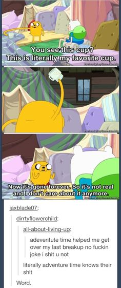 all need to learn this. Adventure Time gets super deep and it's supposed to be for kids!Adventure Time gets super deep and it's supposed to be for kids! Adventure Time Cartoon, Adventure Quotes, Adventure Time Tumblr, Adventure Time Cakes, Marceline, Magic Kingdom, Geeks, Abenteuerzeit Mit Finn Und Jake, Finn Jake