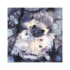 hedgehog-art-heidi-stavinga-alcohol-ink-reproduction - little-critters - <p>This sweet Hedgehog is part of my Little Critters Series. 4x4 inch Print on Satin Luster Fine Art paper comes matted in a white 7x7 inch Mat.</p>