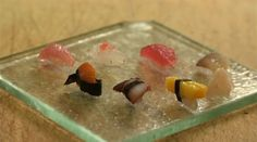 Using only a single grain of rice for each piece of sushi, Chef Hironori Ikeno is capable of creating an entire selection of miniature sushi for patrons at his Sushi restaurant, located in the old Tokyo district, Nohachi. www.youtube.com/watch?v=_flJuyaAVnw