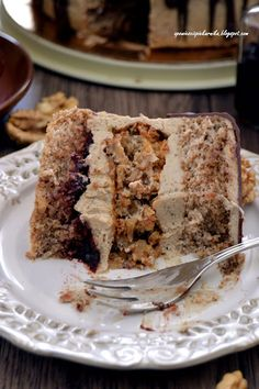 Tales from the oven: nut-coffee cake Coffee Cake, Banana Bread, French Toast, Good Food, Birthday Cake, Healthy Recipes, Cookies, Baking, Breakfast