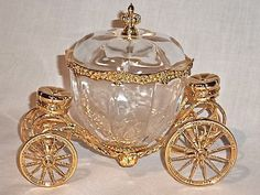 Gold crystal carriage