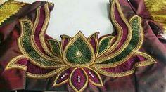 lotus shape work on blouse