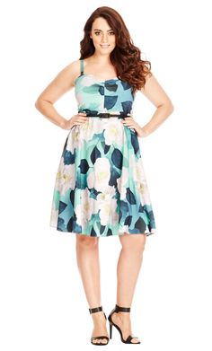 Women's Plus Size Open Rose Dress | City Chic USA Size 16