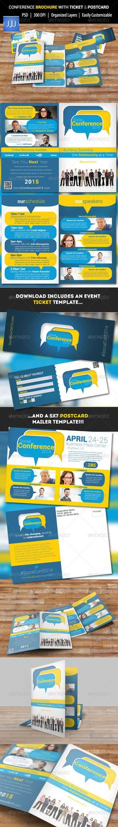 GOLDEN STYLE brochure template by Tzochko on Creative Market - conference brochure template