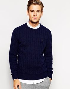 Shop Jack Wills Burnell Jumper in Cashmere Cable Knit at ASOS. Cable Knit, Fashion Online, Cashmere, Men Sweater, Jack Wills, Knitting, Jumpers, Sweaters, Asos