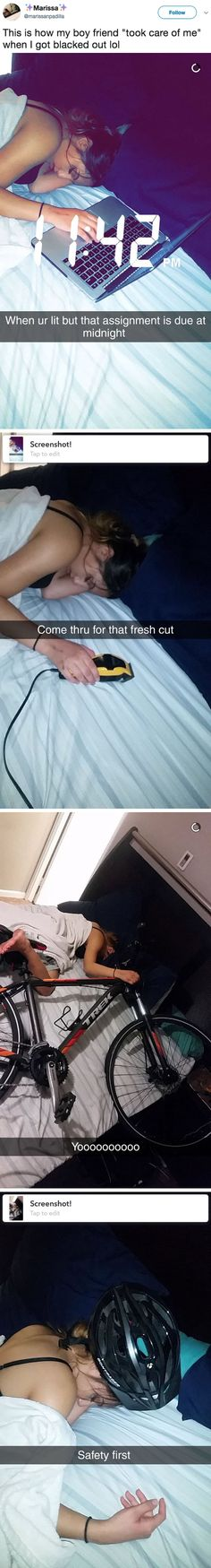 Boyfriend pranks girlfriend while she's passed out. Then she saw the pictures.