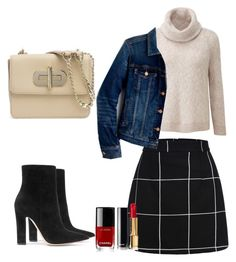 """""""Denim Jacket and Grid"""" by ojomrs on Polyvore featuring J.Crew, Gianvito Rossi, Tommy Hilfiger and Chanel"""