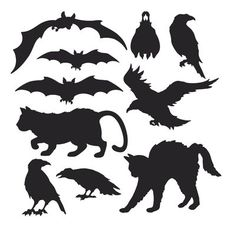 The Holiday Aisle Halloween 10 Piece Silhouette Wall Décor Set (Set of 6)