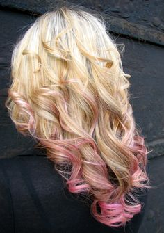 Beautiful Hair with a Pink edge!