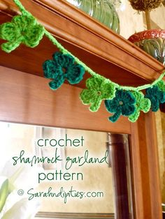 I know St. Patrick's Day is still a couple of weeks off, but I thought it would be fun to share my Crochet Shamrock Garland pattern here, so you can all make one to bring in some festive Irish decor for the holiday!
