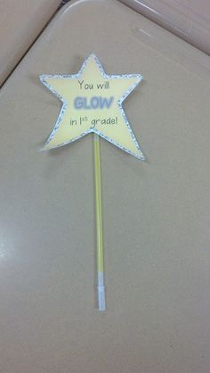 "Love this for meet the teacher or first day for the kiddos...maybe ""You will shine"" or ""You will be a star""??"