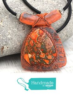 Ethnic Egyptian Pharaoh Necklace - Natural Orange and Green Sediment Jasper from Moon´s Touch https://www.amazon.com/dp/B06XFB242V/ref=hnd_sw_r_pi_dp_45gjzbN9H52XS #handmadeatamazon
