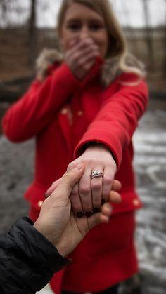 "She said, ""YES!"" ☺Photo via Helzberg Diamonds #HerestoLove #RingSelfie"