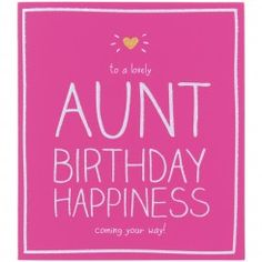 Lovely Aunt Birthday Card Auntie Quotes Wishes For