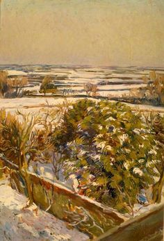 Duncan Grant (UK, - Snow at Charleston, East Sussex - oil on canvas - Reading Museum & Town Hall, UK Duncan Grant, Dora Carrington, Vanessa Bell, Painting Snow, Painting & Drawing, Watercolour Painting, Your Paintings, Landscape Paintings, Virginia Wolf
