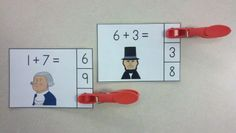 Fabulous February Addition Math Centers (Sums of 0 to 10) $ http://www.teacherspayteachers.com/Product/Fabulous-February-Addition-Math-Centers-Sums-of-0-to-10-1104672