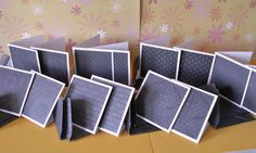 14 3 by 3 inch gray, black and white note cards with match envelopes 2 of each pattern by memories4alifetime on Etsy