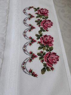 Cross Stitch Borders, Cross Stitch Flowers, Cross Stitching, Cross Stitch Patterns, Embroidery Motifs, Home Room Design, Ribbon Work, Christmas Cross, Needlepoint