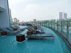 Amazing pool area at the Millennium Hilton, Bangkok Bangkok Hotel, Bangkok Thailand, Us Travel, Family Travel, Conrad Hotel, Best Vacation Destinations, Hotel Reviews, Shabby Chic Furniture, Adventure Travel