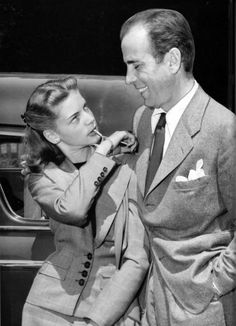 On this date in 1945, 20-year-old Lauren Bacall married 45-year-old Humphrey Bogart at the farm outside of Lucas, Ohio owned by Bogie's friend, novelist Louis Bromfield. The L.A. Times shot this photo of the newlyweds when they arrived at Union Station on May 25, 1945.