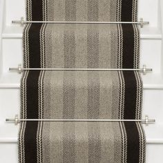Neutral and Black Runners - Roger Oates Design Best Carpet, Diy Carpet, Rugs On Carpet, Carpet Ideas, Carpets, Car Carpet Cleaner, Grey Carpet Bedroom, Carpet Staircase, Hallway Carpet