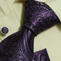 Amazon.com: indigo pattern cheap ties for men birthday gifts for man Purple silk ties handkerchiefs set H6031: Clothing