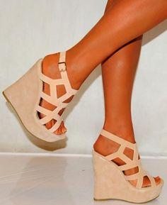 Beautiful cream color wedges fashion