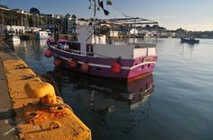 Brittany colors in the port of Camaret by Jean Laurent-Gonnet