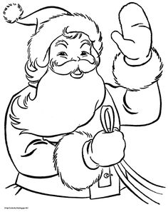 Printable Santa Claus Coloring Pages Sheets And Pictures