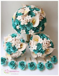 coral and turquoise wedding flowers - Google Search