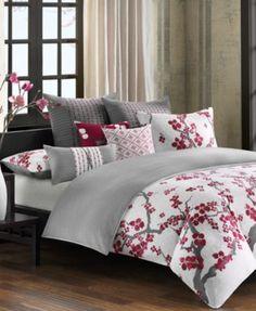 N Natori Cherry Blossom Comforter Sets and Duvet Covers | macys.com
