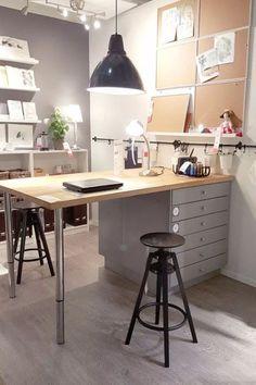 Craft Room Organization | Sewing Room Organization | Organized Craft Studio | Organized Sewing Studio | Ikea Craft Room Storage Idea | Ikea Craft Room | - https://www.smartfundiy.com/ikea-craft-rooms/11/